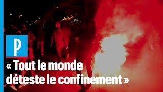 Reconfinement: une manifestation sauvage dans les rues de Paris