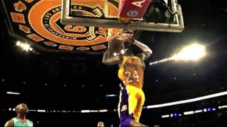 KOBE BRYANT-RIGHT ABOVE IT
