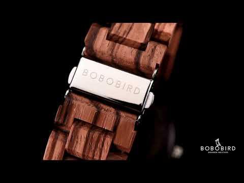 Men's Zebra Handmade Wooden Watches Stylish and Lightweight O26-2