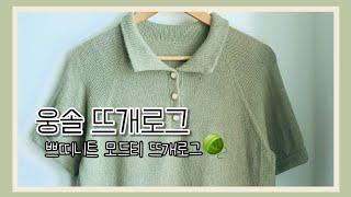[웅솔 뜨개로그]쁘띠니트 모드티 뜨개로그
