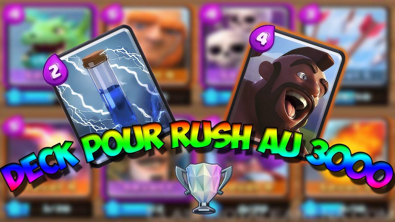 Deck pour rush en ar ne 8 clash royale fr youtube for Deck arene 7 miroir