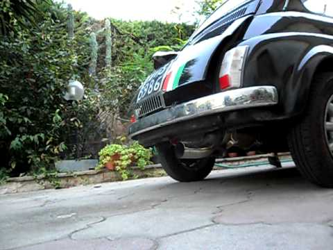 Vanessa Fiat 500 Modificata Con Marmitta Csc 70mm