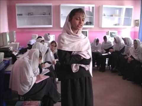 Architect Najim Azadzoi delivers donations to Girls School in Kabul, Afghanistan