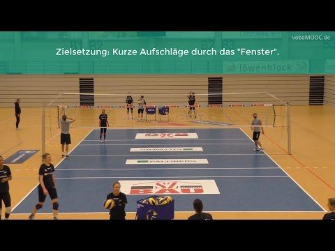 Aufschlagtraining mit dem Elastikband - Kurze Aufschläge - Felix Koslowski - SSC Palmberg Schwerin