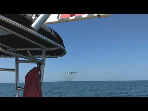 US Coast Guard C-130 Message Drop Training. Clearwater FL