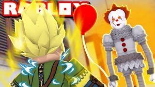 ROBIN HOOD SUPER SAIYAJIN RED VS PALHAÇO IT A COISA NO ROBLOX! (Dragon Ball Super Simulator)