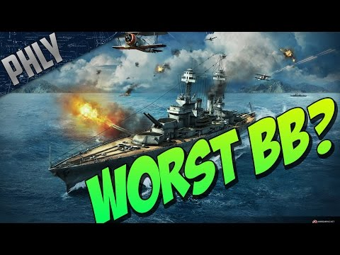 WORST Battleship? World Of Warships Battleships Gameplay!