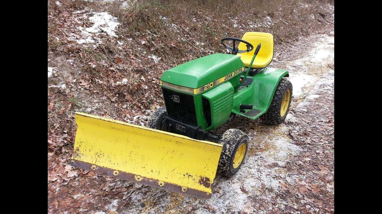 John deere 110 snow plow manual