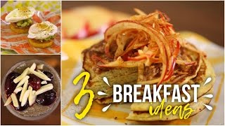 3 Sweet & Savory Breakfast Ideas: Pancakes, Pudding & Eggs Benedict! 28 Day Reset friendly!