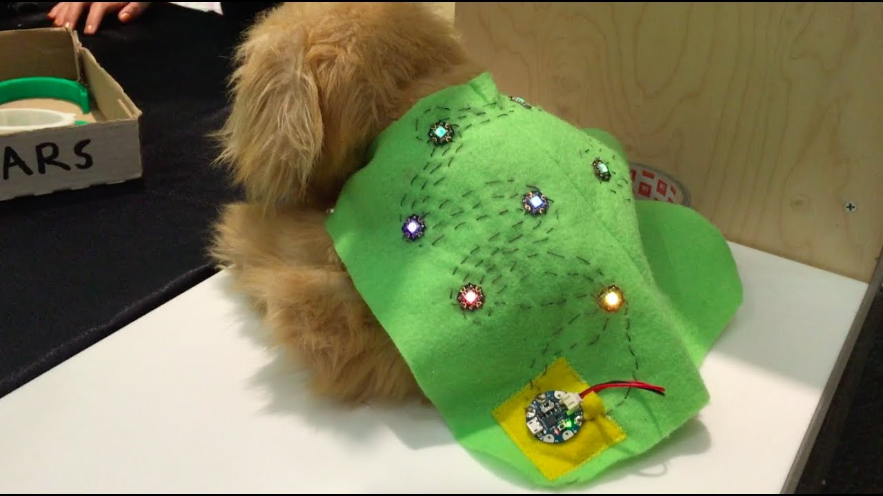 Arduino gemma dog vest by paws wearables at maker faire
