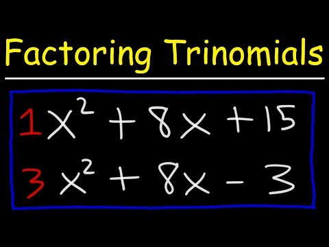 Factoring Trinomials The Easy Fast Way
