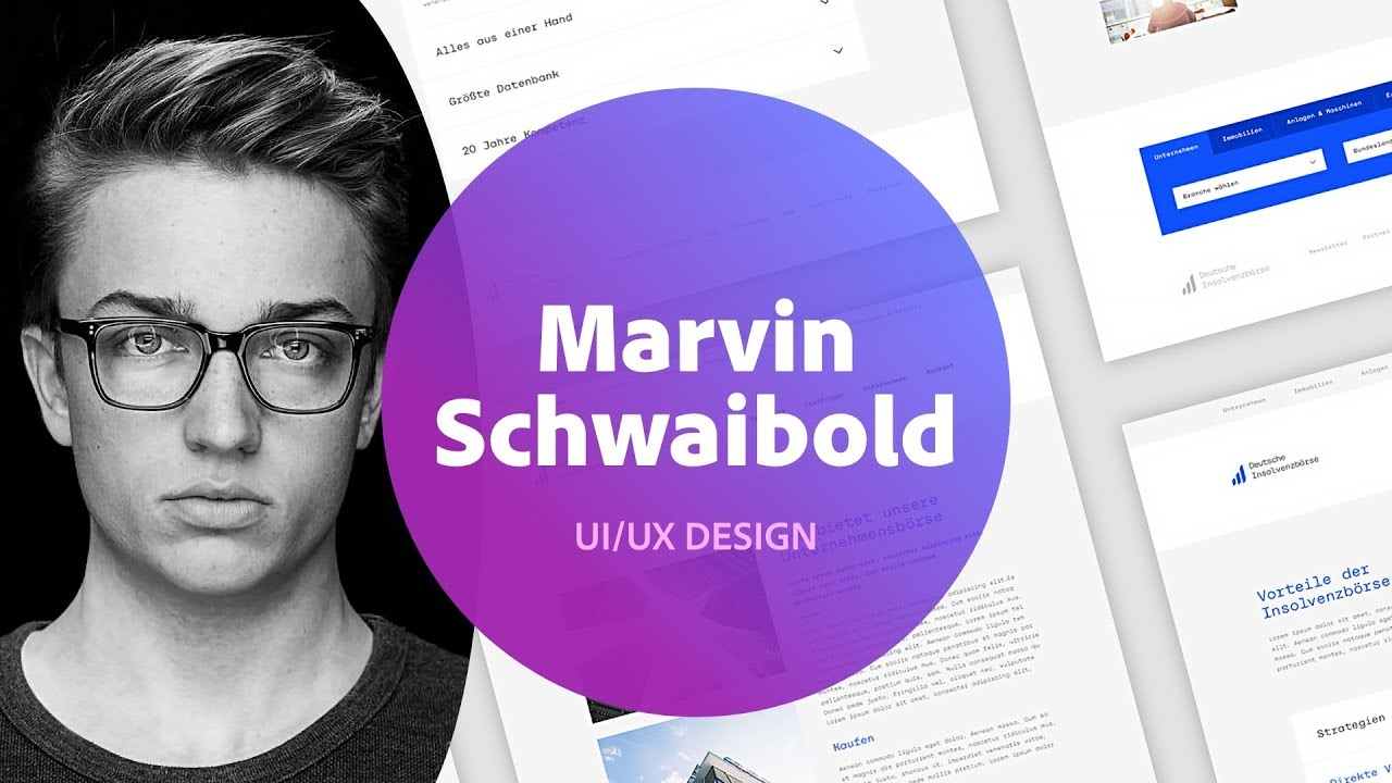 f92e82566 UI/UX Design with Marvin Schwaibold - 1 of 2 - YouTube