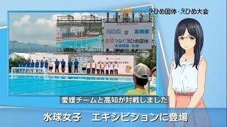 「水球女子 愛媛がエキシビションに」 えひめ国体ニュース 9月13日③ 水球女子 検索動画 38