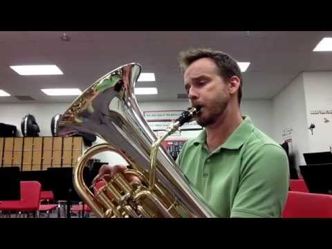 Euphonium with Bari Sax Mouthpiece - The Evil Itsy Bitsy Spider!