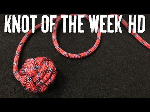 How to Tie a Monkey's Fist to Weight a Throwing Line  ITS Knot of the Week HD