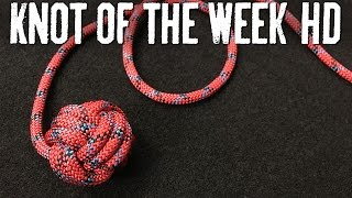How to Tie a Monkey's Fist to Weight a Throwing Line - ITS Knot of the Week HD
