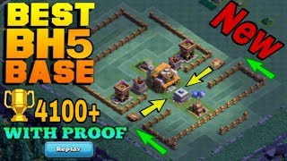 BUILDER HALL 5 (BH5) BEST BASE WITH REPLAY PROOF |EPIC BH5 TOP DEFENSIVE TROLL BASE | CLASH OF CLANS