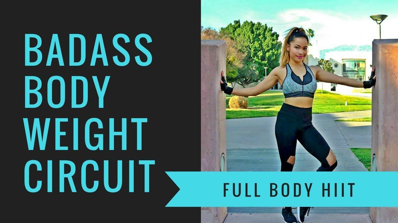 Best Badass Bodyweight Circuit Interval Standard Workout level- By KC Carter|Pushups|Burpees|Workout