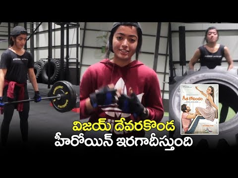 Rashmika Mandana Workouts   Taking Hum Fit challenge   Geetha Govindham Movie Trailer