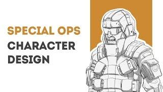 Character Design Process - Special Ops soldier (Shotgun) - Concept Art