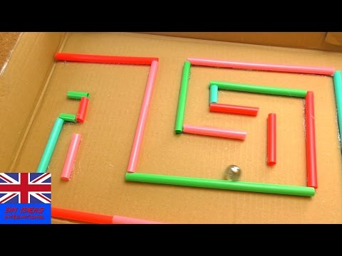 DIY Easy Ball Maze | Making a Sphere Labyrinth with Straws and Cardboard | Easy Cool Toys