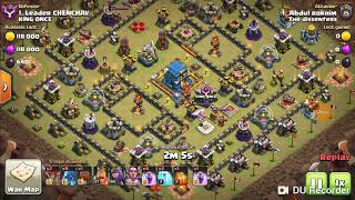 Clash of clans attach townhall12 use eletro dragon and balloon