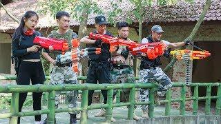 LTT Nerf War : SEAL X Warriors Nerf Guns Fight Criminal Group Bandits Nerf Diamond