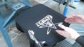 How To Screen Print White Ink On Black Tee Shirts
