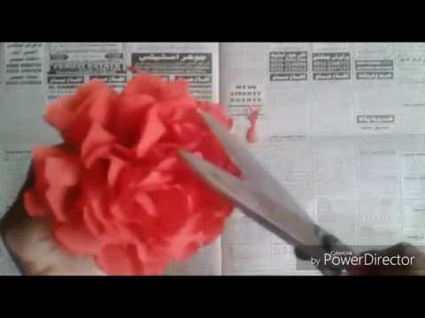 How to make amazing red flower with tissue paper