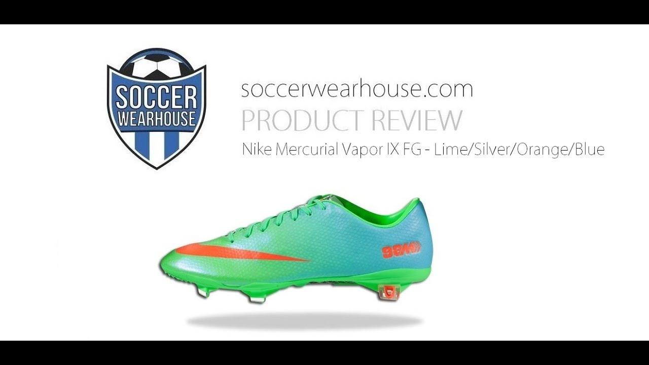 timeless design dd13d 2f608 ... PRODUCT REVIEW: Nike Mercurial Vapor IX FG - Neo Lime/Metallic  Silver/Polarized ...