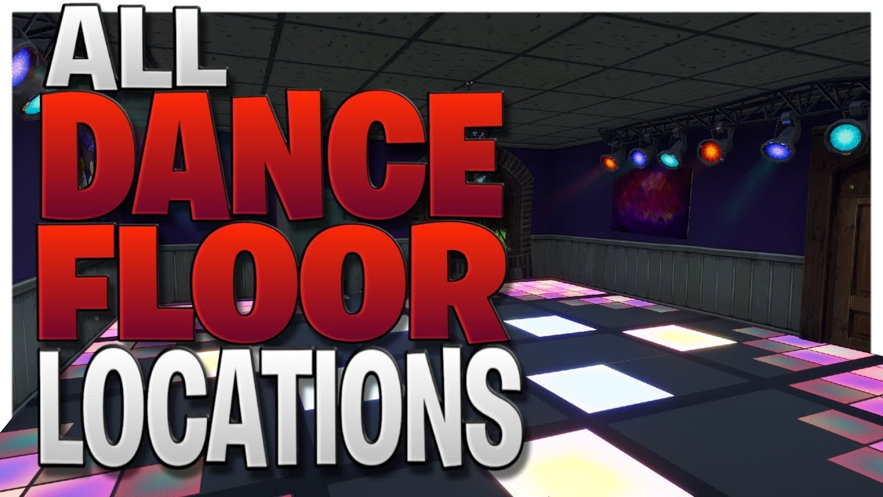 dance on different dance floors all 3 dance floor locations in fortnite battle royale - locations of dance floors fortnite