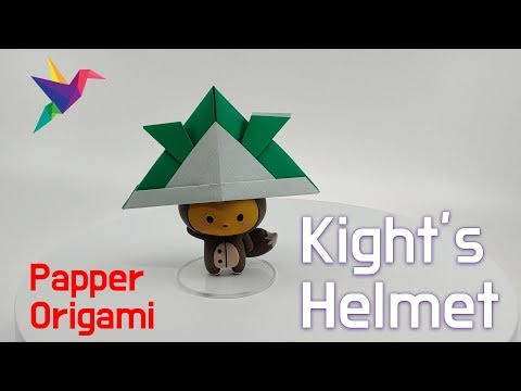 How To Make a Paper Knight's Helmet - Paper Origami Easy #003 Knight's Helmet