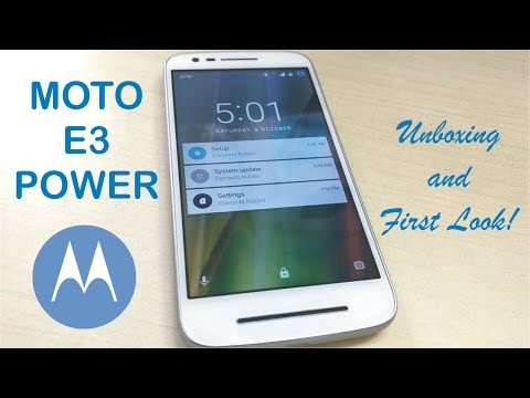 Moto E3 Power Unboxing & First Boot!