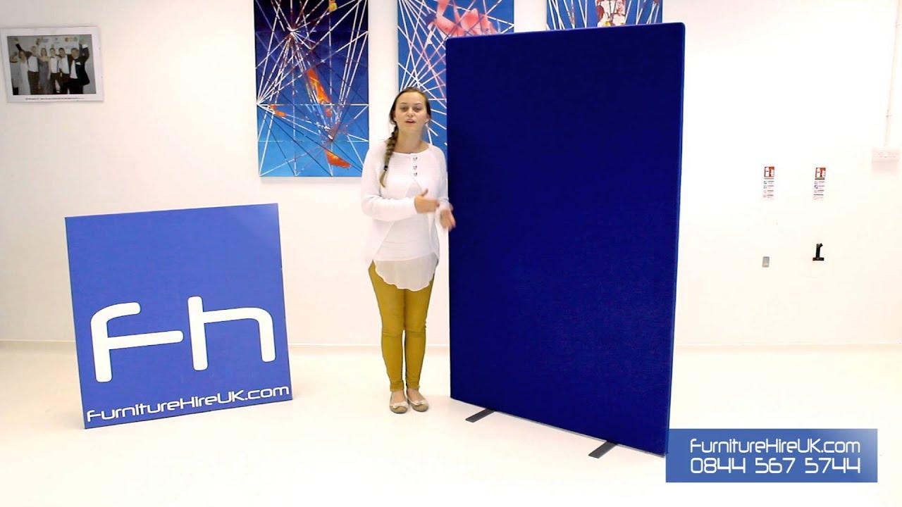 Blue Freestanding Screen Demo - Furniture Hire UK