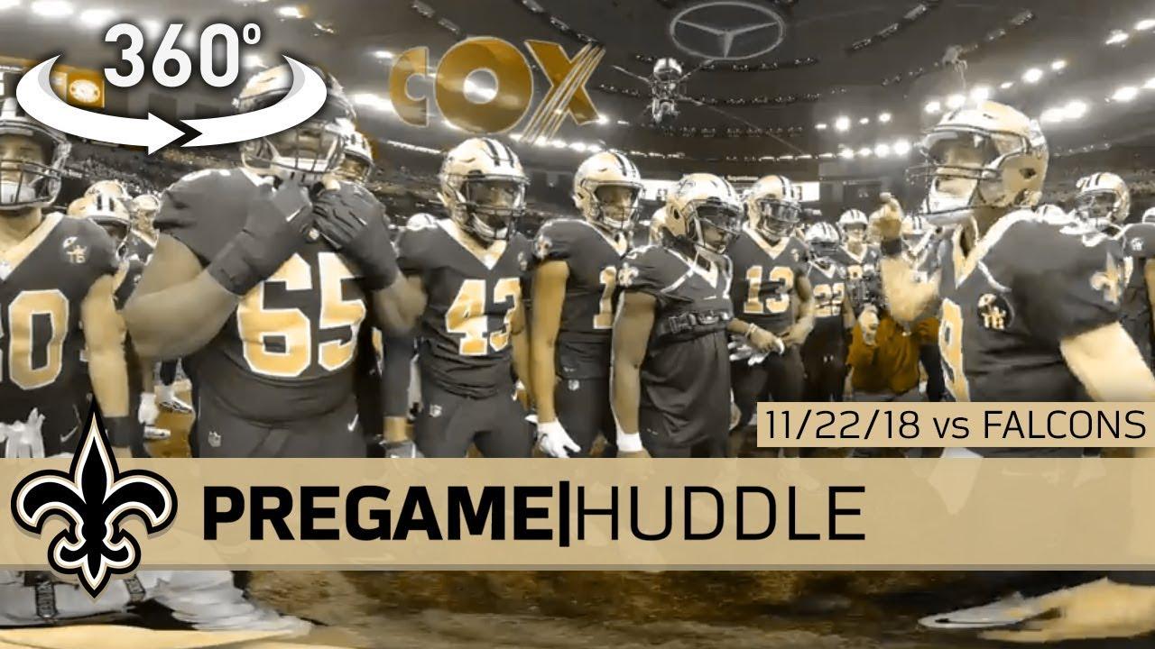 44184f1a2 Go 360° Inside Drew Brees  Pregame Huddle  Saints vs Falcons - 11 22 ...