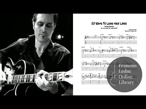 50 Ways to Leave your Lover  Jonathan Kreisberg Transcription