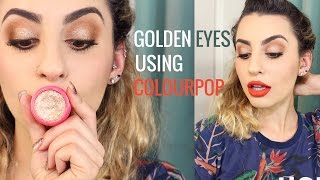 Golden Summer Eyes Using Colourpop Shadows