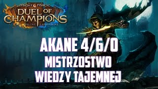 Might & Magic Duel of Champions - Akane 4/6/0 standard - Top Deck - Mistrzostwo Wiedzy Tajemnej