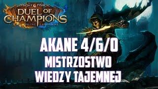 Might & Magic Duel of Champions - Akane 4/6/0 standard - Top Deck - Mistrzostwo Wiedzy Tajemnej
