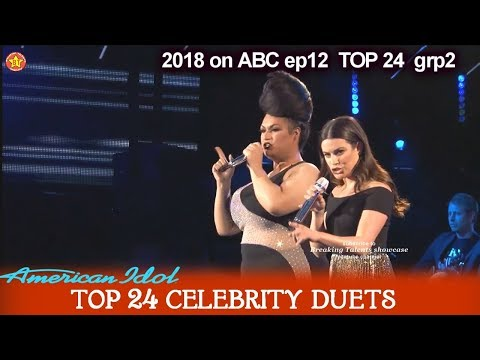 "Ada Vox and Lea Michelle Duet ""Defying Gravity""  Top 24 Celebrity Duets American Idol 2018"