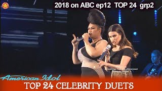 "Ada Vox and Lea Michelle Duet ""Defying Gravity"" HIGH NOTES Top 24 Celebrity Duets American Idol 2018"