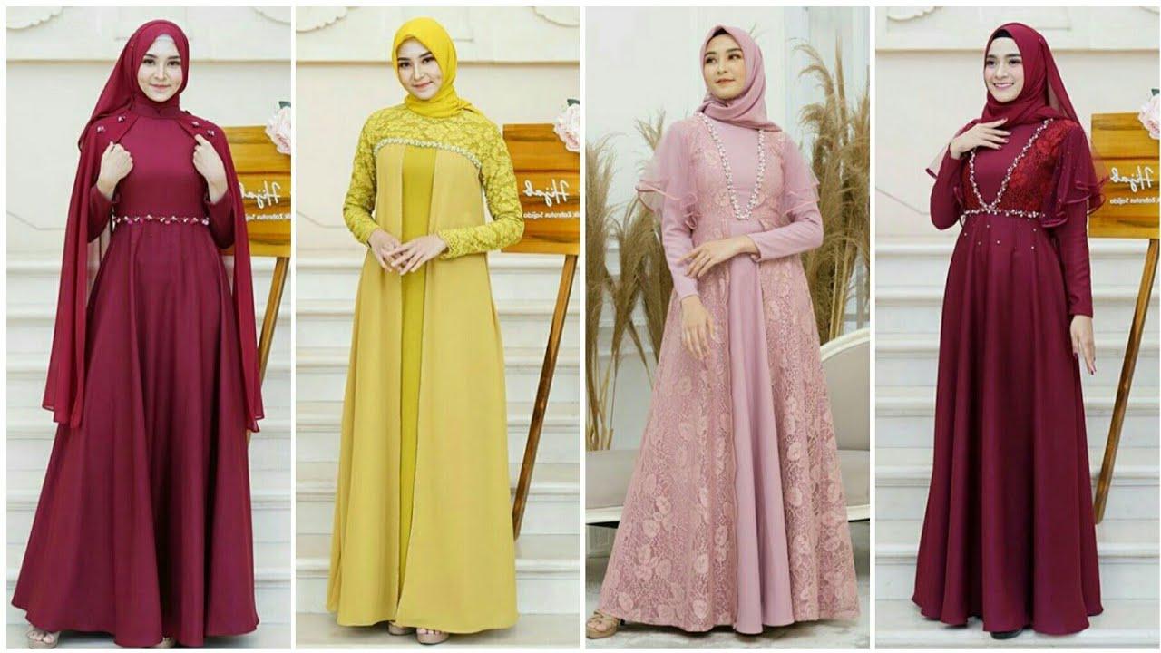 Model Baju Gamis Pesta Pernikahan Terbaru 8/8 Cocok Untuk Muslimah