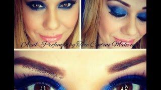 Maquillaje Azul Profundo/blue make up/ blue smokey eye/ Maquillaje de noche