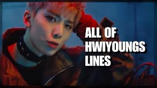 Every single SF9 song but it's just Hwiyoung's lines