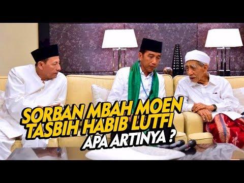 Merinding ! Makna Sorban Mbah Maimoen Dan Tasbih Habib Luthfi Untuk Jokowi