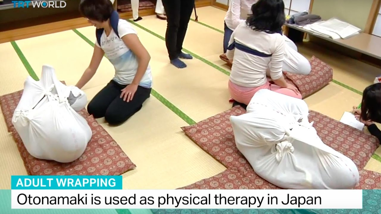 History of physical therapy - Adult Wrapping Otonamaki Is Used As Physical Therapy In Japan Youtube