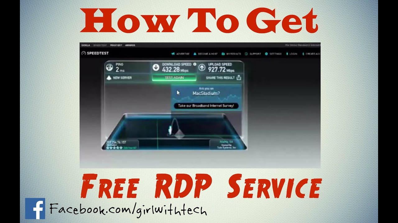 How to Get Free RDP 2016 for Windows Life time Full Video and How to Use  full Tutorial Rabb it