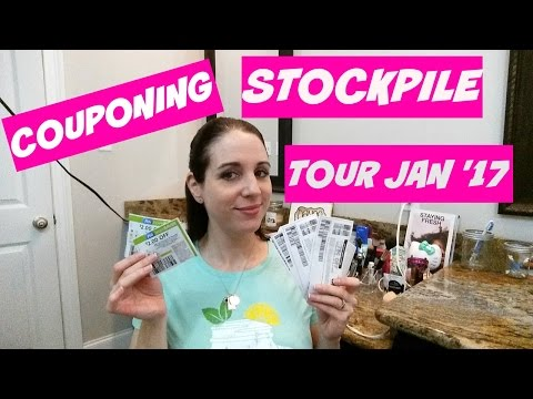 COUPONING STOCKPILE TOUR JANUARY '17!!  WHAT YOU CAN ACCUMULATE IN JUST 6 MONTHS!
