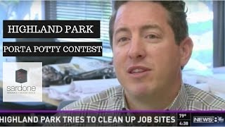 Highland Park Porta Potty Contest on TV | Sardone Construction