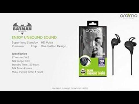 491dc5360b5 UNBOXING OF ORAIMO WINGS BLUETOOTH EARPHONES - YouTube